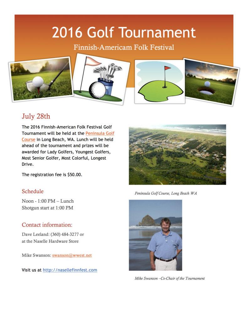 2016 FAFF Golf Tournament flyer